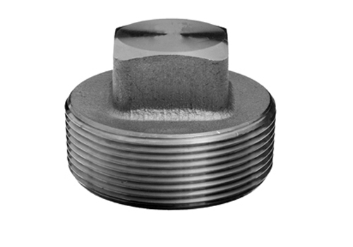 Stainless steel forged pipe fittings square head