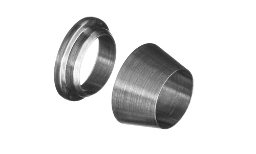 Stainless steel compression tube ferrule set