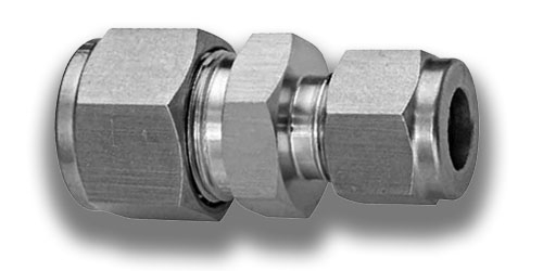 Stainless steel compression tube reducing union