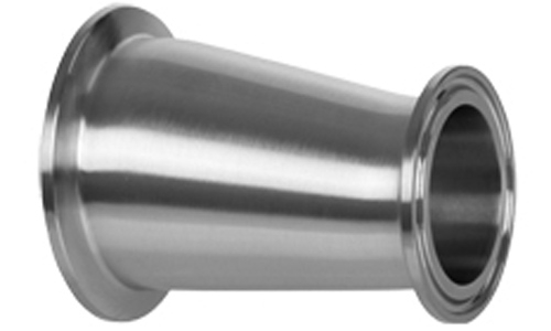 Clamp end sanitary eccentric reducer stainless steel