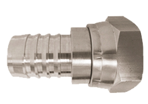 Hose barb to jic stainless fittings series hb end